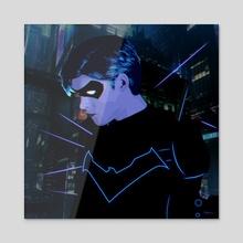 Nightwing Cyberpunk - Acrylic by Kazi Sakib