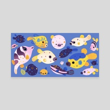 Blowfish - Canvas by pikaole