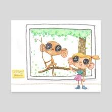 Monkeys - Canvas by peter harren