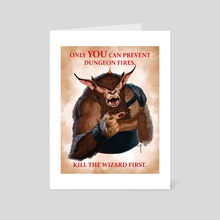 Smoke The Bugbear - Art Card by Claudio Pozas