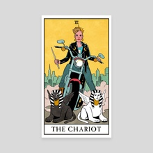 The Chariot - Modern Witch Tarot - Canvas by Lisa Sterle