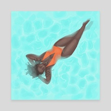 Float - 3 - Canvas by Lee Katherine May