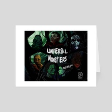 Universal Monsters Meets Van Gogh - Art Card by Sarah Connell