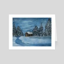 Oil Winter Landscape - Art Card by Vlad Stroe