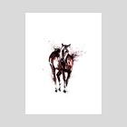 Splatter Calm Horse - Art Print by Andreea Red