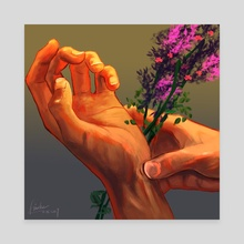 Tenderness is Stored In The Hands - Canvas by fiovske