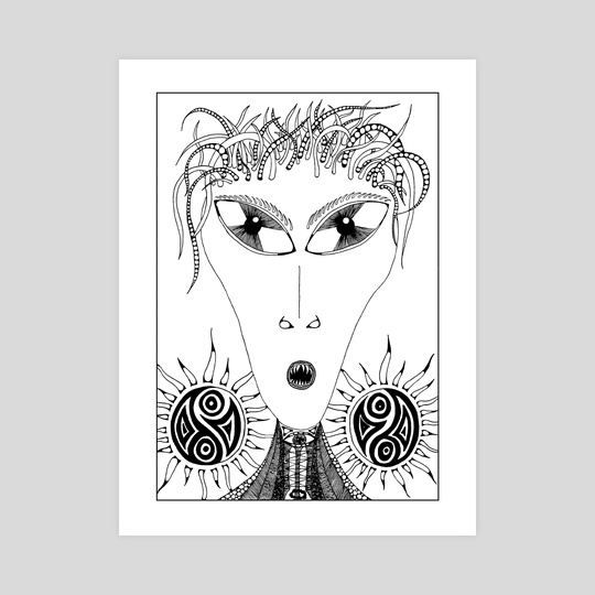 9.B&W-A4. Alien by Darling Wicks