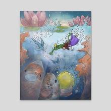 Frog Prince - Acrylic by Suzanne Nikolaisen