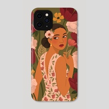 Floral Gown - Phone Case by Lauren Myers