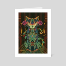 Cheshire - Art Card by Michelle O'Hanlon