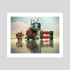 robot wars  - Art Print by Charles Taylor