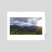 Deqen 4 - Yunnan - China - Art Card by Tom Brandon