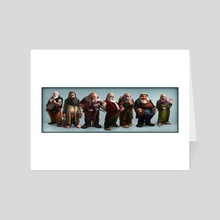 7 Dwarves - Poster - Art Card by Jordy Lakiere