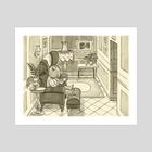 Bear's Reading Chair - Art Print by Greg Abbott
