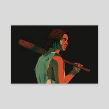 baseball bat - Canvas by Daria Lekomceva
