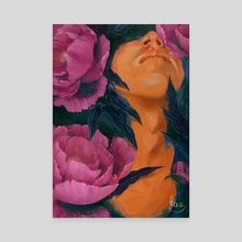 Peonies - Canvas by Klaudia Kazecka