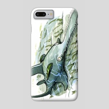 Saw Shark - Phone Case by JP Vine