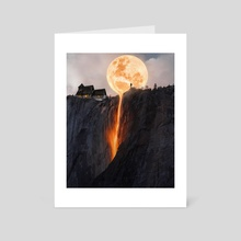 fire moon - Art Card by fx creatives