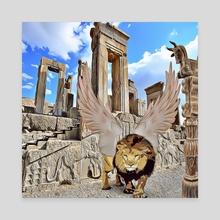 persian lion - Canvas by aliasghar shabani