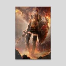 War Maiden - Acrylic by Vanette Kosman