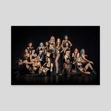 Les Vixens Troupe 2020 (Fierce) - Canvas by Les Vixens Burlesque