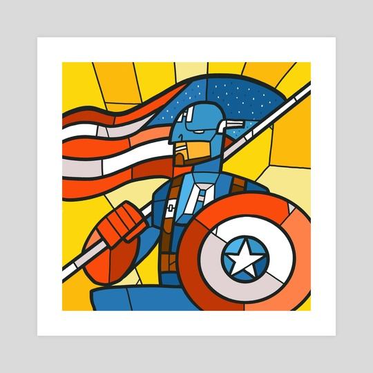 Stained Glass Avengers: Captain America by Chris Bishop