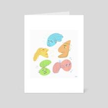 Funky Shapes! - Art Card by artngbubu