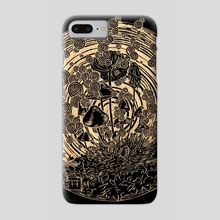 Night Spores - Phone Case by M'fanwy Dean