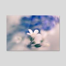 White and Blue - Acrylic by Joana Lourenco