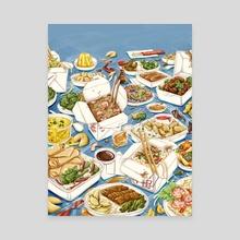 Charm City Chinese Feast - Canvas by Tomoka Murakami