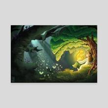 Underneath a Tree - Canvas by Mary Goodrich