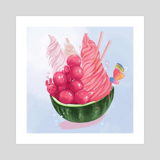 Watermelon Bowl by Andalinart