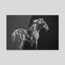 White Horse - Acrylic by Kay Bierdz