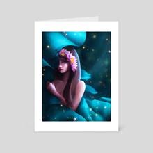 Lotus Maiden - Art Card by Brandellia Hang