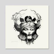 Lady of Avalon 02 - Acrylic by Jean-Sebastien Rossbach