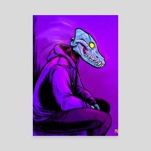 Neon God - Canvas by Francisco Salinas