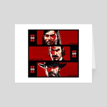 Red Dead Redemption 2 Old School  - Art Card by robin mikalsen