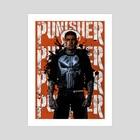 The Punisher - Art Print by Ephrem Rokk