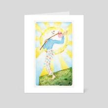 0 The Fool - Art Card by Maura Gaven