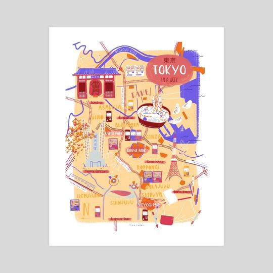 Tokyo map by Cris Tamay