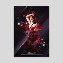 red leaf - Canvas by de thorianie Valerian