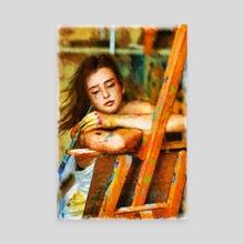 Dreaming with Colours - Canvas by Rick van de Moosdijk