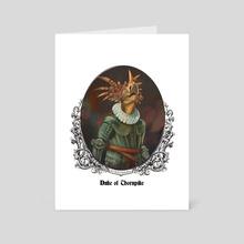 Renaissance Dinosaurs: Duke of Thornpike - Art Card by Eden Sanders