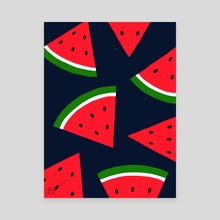 Watermelons - Canvas by Pineapple Art