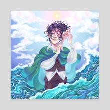 Frodo and the Sea - Canvas by Süti Halmágyi