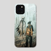 The ghost an the kid - Phone Case by Alex Vede