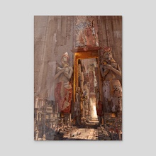 wonders the door to the luxor - Acrylic by Te Hu