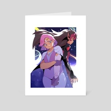 Glimmer and Catra - Art Card by Mikk Dado