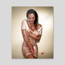 Pluvia - Acrylic by Pete Tapang