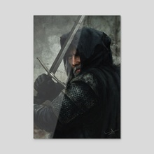 The Witcher - Acrylic by Imad Awan